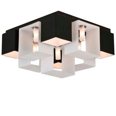 Люстра потолочная St luce SL536.542.09Потолочные<br>Касаемо коллекции модели St luce SL536.542.09 хотелось бы отметить основные моменты: Оригинальные светильники коллекции Concreto украсят современный интерьер в стиле хай-тек, минимализм, лофт, постмодерн. Это отличный вариант для освещения комнаты, кабинета или офисного помещения. Благодаря модным контрастным сочетаниям цветов, светильники станут яркой деталью интерьера. Основание выполнено из металла, плафоны стеклянные.<br><br>Установка на натяжной потолок: Да<br>S освещ. до, м2: 24<br>Крепление: Планка<br>Тип лампы: галогенная / LED-светодиодная<br>Тип цоколя: G9<br>Количество ламп: 9<br>Ширина, мм: 420<br>MAX мощность ламп, Вт: 40<br>Длина, мм: 420<br>Высота, мм: 2300<br>Поверхность арматуры: матовая<br>Оттенок (цвет): черный<br>Цвет арматуры: белый