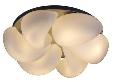 Люстра потолочная St luce SL538.502.06люстры хай тек потолочные<br>Касаемо коллекции модели St luce SL538.502.06 хотелось бы отметить основные моменты: Необычный дизайн люстр серий Тorcere <br>позволит им стать оригинальной деталью интерьера, сделает его неповторимым. Металлическое основание серебристого или белого цвета прекрасно сочетается с плафонами из белого <br>матового стекла. Эти светильники станут акцентом в интерьере минимализма, постмодерна или хай-тека.<br><br>Установка на натяжной потолок: Ограничено<br>S освещ. до, м2: 16<br>Крепление: Планка<br>Тип лампы: накаливания / энергосбережения / LED-светодиодная<br>Тип цоколя: E27<br>Цвет арматуры: белый<br>Количество ламп: 6<br>Ширина, мм: 700<br>Диаметр, мм мм: 700<br>Длина, мм: 700<br>Высота, мм: 190<br>Поверхность арматуры: матовая<br>Оттенок (цвет): белый<br>MAX мощность ламп, Вт: 40