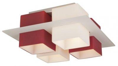Люстра потолочная St luce SL540.562.04Архив<br>Касаемо коллекции модели St luce SL540.562.04 хотелось бы отметить основные моменты: Люстры коллекции Solido- это простота геометрических форм и высокое качество материалов. Стеклянные плафоны представлены в 4-х цветах (белом, черном, красном и янтарном) и нескольких цветовых сочетаниях. Стекло, объединяющее плафоны, может быть прозрачным тонированным или белым матовым. Используемая в светильниках модная контрастная цветовая гамма делает коллекцию универсальной. Люстры Solido станут акцентом современного интерьера в стиле модерн, хай-тек, минимализм или техно.<br><br>Установка на натяжной потолок: Ограничено<br>S освещ. до, м2: 16<br>Крепление: Планка<br>Тип лампы: накаливания / энергосбережения / LED-светодиодная<br>Тип цоколя: E27<br>Количество ламп: 4<br>Ширина, мм: 380<br>MAX мощность ламп, Вт: 60<br>Длина, мм: 380<br>Высота, мм: 170<br>Поверхность арматуры: матовая<br>Оттенок (цвет): красный<br>Цвет арматуры: белый