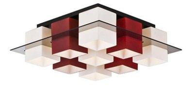 Светильник потолочный St luce SL540.562.09Архив<br>Касаемо коллекции модели St luce SL540.562.09 хотелось бы отметить основные моменты: Люстры коллекции Solido- это простота геометрических форм и высокое качество материалов. Стеклянные плафоны представлены в 4-х цветах (белом, черном, красном и янтарном) и нескольких цветовых сочетаниях. Стекло, объединяющее плафоны, может быть прозрачным тонированным или белым матовым. Используемая в светильниках модная контрастная цветовая гамма делает коллекцию универсальной. Люстры Solido станут акцентом современного интерьера в стиле модерн, хай-тек, минимализм или техно.<br><br>Установка на натяжной потолок: Ограничено<br>S освещ. до, м2: 36<br>Крепление: Планка<br>Тип лампы: накаливания / энергосбережения / LED-светодиодная<br>Тип цоколя: E27<br>Количество ламп: 9<br>Ширина, мм: 590<br>MAX мощность ламп, Вт: 60<br>Длина, мм: 590<br>Высота, мм: 190<br>Поверхность арматуры: матовая<br>Оттенок (цвет): красный<br>Цвет арматуры: белый