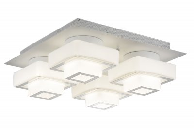 Люстра потолочная St luce SL547.502.04 СubicoПотолочные<br>Если Вы настроены купить светильник модели SL54750204, то обратите внимание: Люстры коллекции Cubico станут оригинальным дополнением интерьеров в стиле техно или хай - тек. Это стильные светильники, которые по достоинству оценят те, кто предпочитает смелые и высокотехнологичные решения в оформлении помещений.Конструкция представляет собой сочетание стеклянных кубиков разного размера и металла, окрашенного в белый цвет. В качестве источника света в моделях Cubico используются светодиодные лампы LED. Эти потолочные светильники наполняют пространство равномерным мягким светом<br><br>Установка на натяжной потолок: Да<br>S освещ. до, м2: 19<br>Крепление: Планка<br>Тип лампы: LED - светодиодная<br>Тип цоколя: LED<br>Цвет арматуры: белый<br>Количество ламп: 4<br>Ширина, мм: 470<br>Длина, мм: 470<br>Высота, мм: 180<br>Поверхность арматуры: матовая<br>MAX мощность ламп, Вт: 12