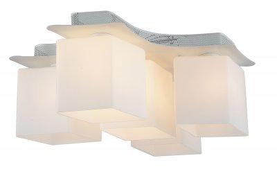 Люстра потолочная St luce SL548.502.05 IntersezioneПотолочные<br>Если Вы настроены купить светильник модели SL54850205, то обратите внимание: Современный и стильный светильник Aspetto создан для освещения интерьеров в стиле минимализм, хай тек или техно. Прямые линии, строгая геометрия, белый цвет металлического основания и матовые стеклянные плафоны- так выглядит современный светильник для городских квартир и рабочих помещений.<br><br>Установка на натяжной потолок: Ограничено<br>S освещ. до, м2: 15<br>Крепление: Планка<br>Тип лампы: накаливания / энергосбережения / LED-светодиодная<br>Тип цоколя: E27<br>Количество ламп: 5<br>Ширина, мм: 450<br>MAX мощность ламп, Вт: 60<br>Длина, мм: 600<br>Высота, мм: 250<br>Поверхность арматуры: матовая<br>Цвет арматуры: белый