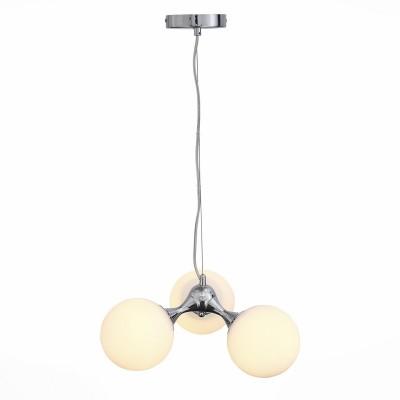 Светильник St luce SL549.102.03Подвесные<br>Если Вы настроены купить светильник модели SL54910203, то обратите внимание: Модели коллекции Arte- яркие представители стремительно развивающегося стиля в архитектуре и дизайне интерьеров -биотека. Биотек-это нестандартное использование природных форм, за счет чего создаваемые конструкции становятся максимально эстетичными и выразительными, а возникающие образы-лаконичны и урбанистичны. Модели коллекции Arte выполнены из металла, окрашенного в цвет хром и белого матового стекла.Эти светильники также прекрасно впишутся в интерьеры,оформленные в стилистике поп арта, техно или минимализма.<br><br>Установка на натяжной потолок: Да<br>S освещ. до, м2: 9<br>Тип лампы: Накаливания / энергосбережения / светодиодная<br>Тип цоколя: E27<br>Количество ламп: 3<br>Диаметр, мм мм: 440<br>Высота, мм: 160 - 1200<br>MAX мощность ламп, Вт: 60
