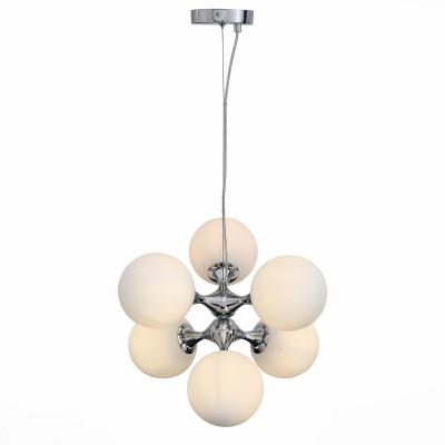 Светильник St luce SL549.103.06Подвесные<br>Если Вы настроены купить светильник модели SL54910306, то обратите внимание: Модели коллекции Arte- яркие представители стремительно развивающегося стиля в архитектуре и дизайне интерьеров -биотека. Биотек-это нестандартное использование природных форм, за счет чего создаваемые конструкции становятся максимально эстетичными и выразительными, а возникающие образы-лаконичны и урбанистичны. Модели коллекции Arte выполнены из металла, окрашенного в цвет хром и белого матового стекла.Эти светильники также прекрасно впишутся в интерьеры,оформленные в стилистике поп арта, техно или минимализма.<br><br>Установка на натяжной потолок: Да<br>S освещ. до, м2: 18<br>Тип лампы: Накаливания / энергосбережения / светодиодная<br>Тип цоколя: E27<br>Количество ламп: 6<br>Диаметр, мм мм: 440<br>Высота, мм: 310 - 1290<br>MAX мощность ламп, Вт: 60