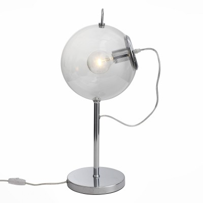 Светильник St luce SL550.104.01Настольные лампы хай тек<br>Если Вы настроены купить светильник модели SL55010401, то обратите внимание: Светильники коллекции Senza - это дизайнерский акцент интерьера в стиле хай-тек или минимализм. Основания светильников изготовлены из металла с хромированным покрытием. Плафон из дутого прозрачного стекла. Оригинальный подвижный механизм за счет соединения с верхним и нижним крюком обеспечивает регулировку высоты светильника.<br><br>Тип лампы: Накаливания / энергосбережения / светодиодная<br>Тип цоколя: E27<br>Количество ламп: 1<br>Диаметр, мм мм: 250<br>Высота, мм: 560<br>MAX мощность ламп, Вт: 60