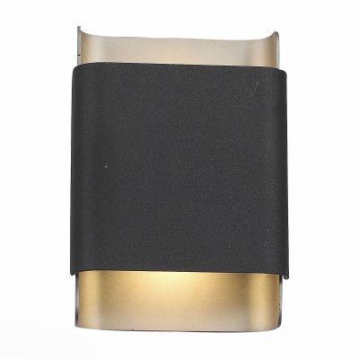 SL564.401.02 Светильник уличный настенный ST Luce Черный/Серый LED 2*5Wуличные настенные светильники<br>Если Вы настроены купить светильник модели SL56440102, то обратите внимание: Стильный и лаконичный настенный светильник Cambra -элемент дополнительного локального освещения. Модель имеет степень защиты IP65 и может использоваться для улицы. Основание бра выполнено из алюминия и окрашено в чёрный и серый цвета. Этот светильник может быть как замаскирован с целью смещения акцента на световое оформление, так и сам стать яркой и заметной деталью.<br><br>Цветовая t, К: 3000<br>Тип лампы: LED - светодиодная<br>Тип цоколя: LED, встроенные светодиоды<br>Цвет арматуры: черный<br>Количество ламп: 2<br>Ширина, мм: 130<br>Расстояние от стены, мм: 63<br>Высота, мм: 180<br>Поверхность арматуры: матовая<br>Оттенок (цвет): черный<br>MAX мощность ламп, Вт: 5<br>Общая мощность, Вт: 10