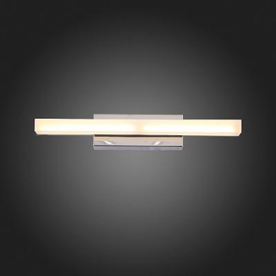 Светильник настенный бра St luce SL565.011.01Хай-тек<br>Если Вы настроены купить светильник модели SL56501101, то обратите внимание: Модели коллекции Moderno идеально подойдут для тех, кто не любит лишних деталей в интерьере ванной, коридора, кухни, спальни. Основание светильников выполнено из металла цвета хрома, а плафон- из акрила. Модели коллекции Moderno создадут локальное освещение интерьера в минималистическом стиле или стиле модерн.<br><br>Цветовая t, К: 4000<br>Тип лампы: LED<br>Тип цоколя: LED<br>Ширина, мм: 300<br>MAX мощность ламп, Вт: 4<br>Расстояние от стены, мм: 82<br>Высота, мм: 50