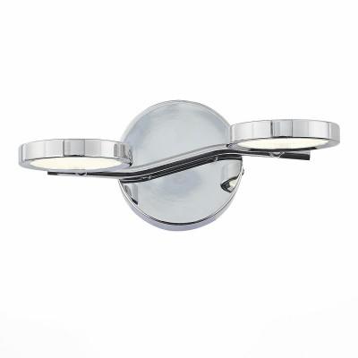Светильник St luce SL576.101.02Двойные<br>Если Вы настроены купить светильник модели SL57610102, то обратите внимание: <br>Как инопланетные огни, сверкают под потолком яркие кольца светильников коллекции Gruppo. Итальянские дизайнеры сократили размеры плафона до минимума, оставив только тонкий металлический ободок цвета хром. Всё остальное – это свет от светодиодной ленты, спрятанной внутри изящного корпуса плафона. Прозрачное стекло с имитацией многочисленных капель мягко рассеивает свет. Плафоны светильников способны вращаться в разных плоскостях, что позволяет достигнуть высокого качества освещенности. Модели коллекции Gruppo великолепно впишутся в минималистичный современный интерьер, добавив ему элегантности и стиля, будут хорошо смотреться на низких потолках и в небольших комнатах, а так же создадут локальное освещение в виде настенного бра.<br><br>Цветовая t, К: 4000<br>Тип лампы: LED<br>Количество ламп: 2<br>Ширина, мм: 280<br>MAX мощность ламп, Вт: 5<br>Расстояние от стены, мм: 190<br>Высота, мм: 90