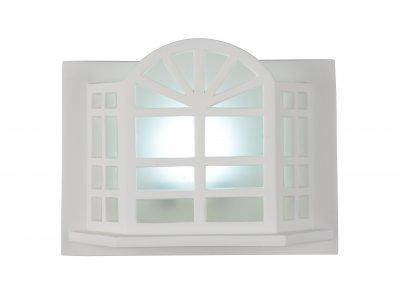 Светильник настенный бра St luce SL578.501.01 FiestaГипсовые<br>Касаемо коллекции модели St luce SL578.501.01 хотелось бы отметить основные моменты: Светильники из гипса-интересное явление в декорировании интерьеров разных стилей. Эти светильники могут как оставаться белыми, так и использоваться под покраску. Они позволяют продолжить задуманное идею в оформлении стен и потолка, создать неповторимый запоминающийся интерьер.<br><br>Крепление: на планку<br>Цветовая t, К: CW - дневной белый 6000 К<br>Тип лампы: LED - светодиодная<br>Тип цоколя: LED<br>Цвет арматуры: белый<br>Количество ламп: 1<br>Ширина, мм: 280<br>Высота, мм: 200<br>Поверхность арматуры: матовая<br>MAX мощность ламп, Вт: 3