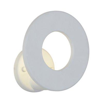 Бра St luce SL590.501.01Хай-тек<br><br><br>Крепление: на планку<br>Тип товара: Светильник настенный бра<br>Цветовая t, К: CW - холодный белый 4000 К<br>Тип лампы: LED - светодиодная<br>Тип цоколя: LED<br>Количество ламп: 1<br>MAX мощность ламп, Вт: 5<br>Диаметр, мм мм: 140<br>Выступ, мм: 148<br>Расстояние от стены, мм: 148<br>Поверхность арматуры: матовая<br>Оттенок (цвет): белый<br>Цвет арматуры: белый