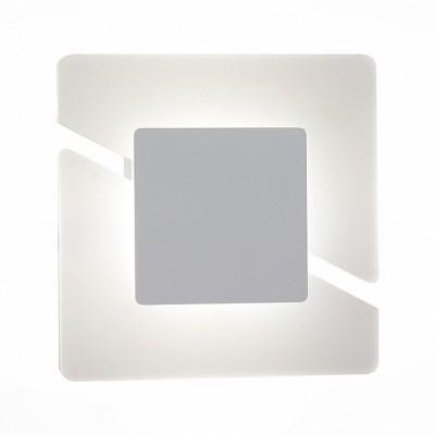 Светильник St Luce SL594.051.01Хай-тек<br>Если Вы настроены купить светильник модели SL59405101, то обратите внимание: Картина современного художника-авангардиста, оригинальная настенная скульптура или светильник из новаторской коллекции? Такую необычную деталь интерьера трудно обойти вниманием – лампа внутри светильника скрыта в геометрических элементах, позволяя любоваться дизайном, пока светильник выполняет свою основную функцию. Квадратное основание поделено на две части косым разрезом, а сверху наложен матовый квадрат серого цвета, подсвечиваемый лампой. Строго, но со вкусом, как и полагается стильному декоративному элементу.<br>