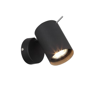 Светильник St Luce SL597.401.01Одиночные<br>Споты коллекции Fanale могут быть зональным или общим источником света. Эти модели создадут в интерьере функциональное пространство, придадут определенный шарм своим внешним образом. Основания светильников выполнены из металла и окрашены в белый цвет. Матовые плафоны будут гармонично смотреться на фоне светлой отделки стен или потолка , или же контрастно подчеркнут всю глубину темных оттенков в отделке интерьера.<br><br>S освещ. до, м2: 2<br>Тип лампы: галогенная/LED<br>Тип цоколя: GU10<br>Цвет арматуры: черный<br>Ширина, мм: 80<br>Диаметр, мм мм: 70<br>Высота, мм: 155<br>MAX мощность ламп, Вт: 3