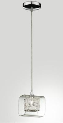 Светильник подвесной St luce SL602.103.01Архив<br>Оригинальный подвесной светильник St luce SL602.103.01 сочетает в себе все достоинства, присущие стилю «хай-тек»: «строгую», геометрическую форму, современный галогенный источник света, «металлический» оттенок, отсутствие дополнительных декоративных элементов. «Изюминка» этой модели заключается в наличии плафона, выполненного из хрусталя. Лучи, попадая на его грани, преломляются и создают неповторимое, «искрящееся» освещение. Наиболее оптимально светильник будет функционировать в качестве дополнительной подсветки небольшой по площади зоны. Дополнят и сделают более «цельной» общую «линию» стиля настенные бра из этой же серии.<br><br>Тип лампы: галогенная / LED-светодиодная<br>Тип цоколя: G9<br>Количество ламп: 1<br>Ширина, мм: 140<br>MAX мощность ламп, Вт: 40<br>Длина, мм: 120<br>Высота, мм: 1980<br>Оттенок (цвет): хром, прозрачное стекло, хрусталь<br>Цвет арматуры: серебристый