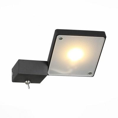 Светильник настенный St luce SL608.401.01Хай-тек<br>Бра коллекции Mobile прекрасно впишется в интерьер, оформленный в современном стиле. Для динамичных, энергичных людей, не любящих перегружать комнату излишними деталями, такой светильник придется весьма кстати. Его основание выполнено из металла и окрашено в белый или черный цвет, а источник цвета-LED-декорирован белым матовым акрилом.  Светильник позволяет по своему желанию менять направление света, создавать акценты в комнате.<br><br>Цветовая t, К: 3000<br>Тип лампы: LED<br>Тип цоколя: LED<br>Цвет арматуры: черный<br>Количество ламп: 1<br>Ширина, мм: 145<br>Расстояние от стены, мм: 165<br>Высота, мм: 30 - 115<br>MAX мощность ламп, Вт: 6.6