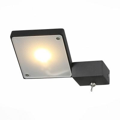 Светильник настенный St luce SL608.411.01Хай-тек<br>Бра коллекции Mobile прекрасно впишется в интерьер, оформленный в современном стиле. Для динамичных, энергичных людей, не любящих перегружать комнату излишними деталями, такой светильник придется весьма кстати. Его основание выполнено из металла и окрашено в белый или черный цвет, а источник цвета-LED-декорирован белым матовым акрилом.  Светильник позволяет по своему желанию менять направление света, создавать акценты в комнате.<br><br>Цветовая t, К: 3000<br>Тип лампы: LED<br>Тип цоколя: LED<br>Цвет арматуры: черный<br>Количество ламп: 1<br>Ширина, мм: 145<br>Расстояние от стены, мм: 165<br>Высота, мм: 30 - 115<br>MAX мощность ламп, Вт: 6.6