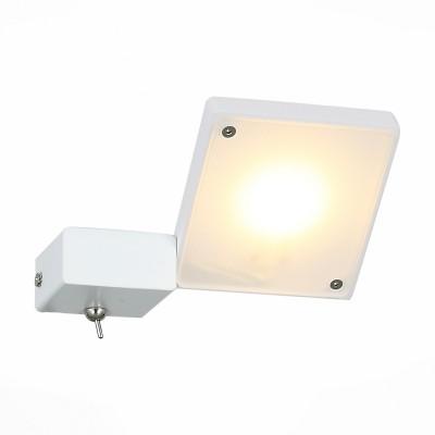 Светильник настенный St luce SL608.501.01Бра хай тек стиля<br>Бра коллекции Mobile прекрасно впишется в интерьер, оформленный в современном стиле. Для динамичных, энергичных людей, не любящих перегружать комнату излишними деталями, такой светильник придется весьма кстати. Его основание выполнено из металла и окрашено в белый или черный цвет, а источник цвета-LED-декорирован белым матовым акрилом.  Светильник позволяет по своему желанию менять направление света, создавать акценты в комнате.<br><br>Цветовая t, К: 3000<br>Тип лампы: LED<br>Тип цоколя: LED<br>Цвет арматуры: белый<br>Количество ламп: 1<br>Ширина, мм: 145<br>Расстояние от стены, мм: 165<br>Высота, мм: 30 - 115<br>MAX мощность ламп, Вт: 6.6