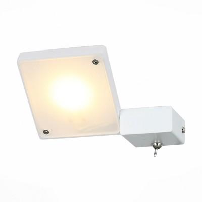 Светильник настенный St luce SL608.511.01Хай-тек<br>Бра коллекции Mobile прекрасно впишется в интерьер, оформленный в современном стиле. Для динамичных, энергичных людей, не любящих перегружать комнату излишними деталями, такой светильник придется весьма кстати. Его основание выполнено из металла и окрашено в белый или черный цвет, а источник цвета-LED-декорирован белым матовым акрилом.  Светильник позволяет по своему желанию менять направление света, создавать акценты в комнате.<br><br>Цветовая t, К: 3000<br>Тип лампы: LED<br>Тип цоколя: LED<br>Цвет арматуры: белый<br>Количество ламп: 1<br>Ширина, мм: 145<br>Расстояние от стены, мм: 165<br>Высота, мм: 30 - 115<br>MAX мощность ламп, Вт: 6.6
