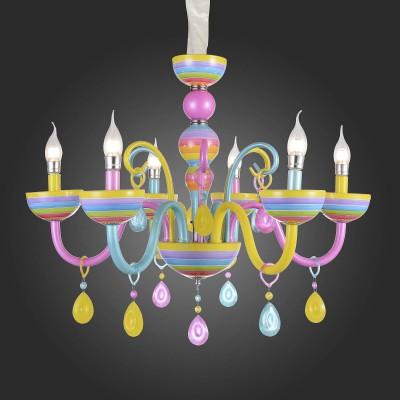 Люстра цветная St Luce SL672.783.06Подвесные<br>Если Вы настроены купить светильник модели SL67278306, то обратите внимание: Оригинальная коллекция подвесных люстр Ornato – это гармоничное сочетание несочетаемого. Классические формы металлического основания украшены яркими веселыми узорами с этническими нотками и разноцветными подвесками из декоративного стекла. Голубой, сиреневый, желтый, зеленый, красный – сочные, насыщенные оттенки словно намекают на то, что не стоит быть слишком серьезным. Даже к такому важному элементу интерьера, как люстра, можно подойти с юмором, не изменяя хорошему вкусу. Коллекция уместна в любом современном интерьере, но особенно выигрышно будет смотреться в детских комнатах, дополняя позитивную и счастливую атмосферу.<br><br>Установка на натяжной потолок: Да<br>S освещ. до, м2: 12<br>Тип лампы: Накаливания / энергосбережения / светодиодная<br>Тип цоколя: E14<br>Количество ламп: 6<br>Диаметр, мм мм: 690<br>Высота, мм: 600 - 1200<br>MAX мощность ламп, Вт: 40
