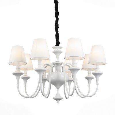 Светильник St Luce SL683.503.08Подвесные<br><br><br>Тип товара: Люстра подвесная<br>Тип лампы: Накаливания / энергосбережения / светодиодная<br>Тип цоколя: E27<br>Количество ламп: 8<br>MAX мощность ламп, Вт: 60<br>Диаметр, мм мм: 690<br>Высота, мм: 430 - 1100<br>Цвет арматуры: белый