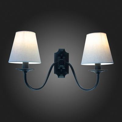 Светильник St Luce SL684.401.02Классика<br><br><br>Тип товара: Светильник настенный бра<br>Тип лампы: Накаливания / энергосбережения / светодиодная<br>Тип цоколя: E27<br>Количество ламп: 2<br>Ширина, мм: 260<br>MAX мощность ламп, Вт: 60<br>Расстояние от стены, мм: 250<br>Высота, мм: 270