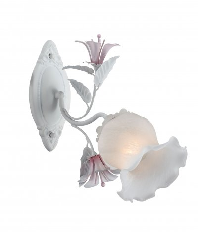 Светильник настенный бра St luce SL701.501.01 BroccaФлористика<br>Касаемо коллекции модели St luce SL701.501.01 хотелось бы отметить основные моменты: Люстры и бра серии Brocca-это прекрасное украшение интерьера залла, холла, прихожей, спальни. Нежные, светло-розовые цветы придают светильнику легкий романтичный облик. Основание и декоративные элементы светильника выполнены из металла. Плафоны выполнены из белого матового стекла с мраморным узором.<br><br>Крепление: планка<br>Тип лампы: накаливания / энергосбережения / LED-светодиодная<br>Тип цоколя: E27<br>Количество ламп: 1<br>Ширина, мм: 240<br>MAX мощность ламп, Вт: 60<br>Расстояние от стены, мм: 400<br>Высота, мм: 280<br>Поверхность арматуры: матовая<br>Цвет арматуры: белый
