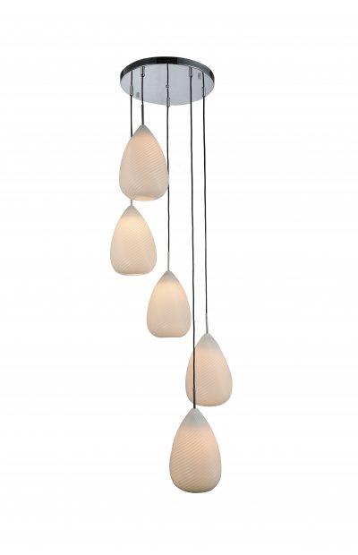 Люстра подвесная St luce SL704.103.05Подвесные<br><br><br>Установка на натяжной потолок: Да<br>S освещ. до, м2: 15<br>Крепление: Планка<br>Тип товара: Люстра подвесная<br>Скидка, %: 20<br>Тип лампы: накаливания / энергосбережения / LED-светодиодная<br>Тип цоколя: E27<br>Количество ламп: 5<br>MAX мощность ламп, Вт: 60<br>Диаметр, мм мм: 300<br>Высота, мм: 450<br>Поверхность арматуры: глянцевая<br>Цвет арматуры: серебристый