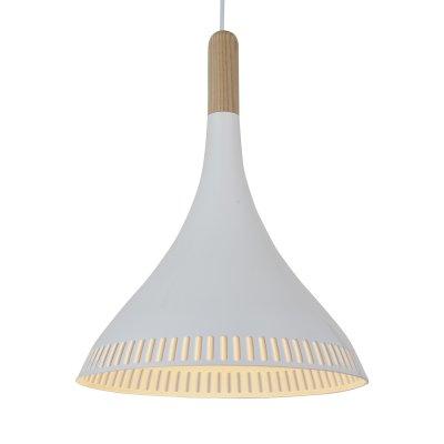 Светильник подвесной St luce SL710.503.01одиночные подвесные светильники<br>Если Вы настроены купить светильник модели SL71050301, то обратите внимание: Мягкий свет моделей коллекции Agilita создаст уют даже в небольшом пространстве . Урбанистический лаконичный дизайн люстр, не перегруженный лишними деталями, сможет стать ярким акцентом интерьера спальни, прихожей или рабочего кабинета.. Металлический плафон черного или белого цвета в сочетании с деревянной арматурой смотрится очень стильно и современно. Дизайнеры воплотили в светильниках коллекции Agilita модные тенденции, комбинируя различные материалы и сочетая красоту с практичностью.<br><br>S освещ. до, м2: 3<br>Крепление: на планку<br>Тип лампы: накаливания / энергосбережения / LED-светодиодная<br>Тип цоколя: E27<br>Цвет арматуры: деревянный светлый<br>Количество ламп: 1<br>Диаметр, мм мм: 300<br>Длина цепи/провода, мм: 1100<br>Высота, мм: 400<br>Поверхность арматуры: матовая<br>Оттенок (цвет): белый<br>MAX мощность ламп, Вт: 60