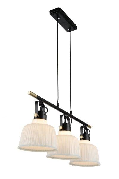 Люстра подвесная St luce SL714.043.03Тройные<br>Если Вы настроены купить светильник модели SL71404303, то обратите внимание: Люстры коллекции Aletante выглядят современно, прекрасно выполняют свои осветительные функции и помогают создать неповторимый образ интерьера. Классический дизайн сочетается с функциональностью конструкции. Благодаря возможности вращать плафоны, можно осветить определенную зону комнаты, создав световые акценты на особенностях интерьера. Глянцевое стекло оригинально дополняется металлическими элементами черного и золотого цвета. Эти люстры станут яркой деталью в современных интерьерах - от модерна до урбан.<br><br>S освещ. до, м2: 9<br>Крепление: на планку<br>Тип лампы: накаливания / энергосбережения / LED-светодиодная<br>Тип цоколя: E27<br>Количество ламп: 3<br>Ширина, мм: 230<br>MAX мощность ламп, Вт: 60<br>Длина, мм: 865<br>Высота, мм: 400<br>Поверхность арматуры: матовая<br>Цвет арматуры: Черный с золотом