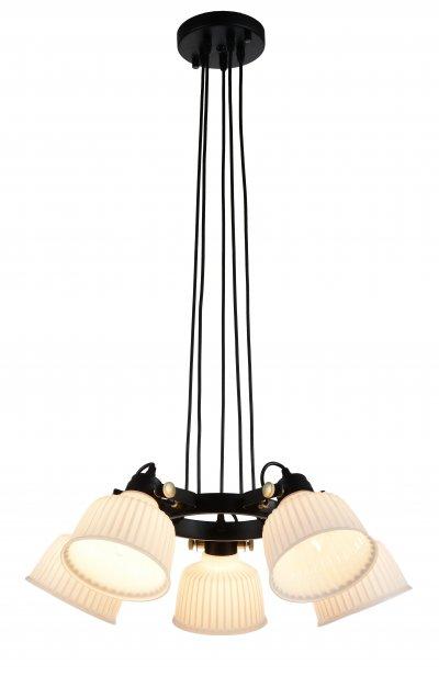 Люстра подвесная St luce SL714.403.05люстры поворотные<br>Если Вы настроены купить светильник модели SL71440305, то обратите внимание: Люстры коллекции Aletante выглядят современно, прекрасно выполняют свои осветительные функции и помогают создать неповторимый образ интерьера. Классический дизайн сочетается с функциональностью конструкции. Благодаря возможности вращать плафоны, можно осветить определенную зону комнаты, создав световые акценты на особенностях интерьера. Глянцевое стекло оригинально дополняется металлическими элементами черного и золотого цвета. Эти люстры станут яркой деталью в современных интерьерах - от модерна до урбан.<br><br>Установка на натяжной потолок: Да<br>S освещ. до, м2: 10<br>Крепление: Планка<br>Тип лампы: накаливания / энергосбережения / LED-светодиодная<br>Тип цоколя: E14<br>Цвет арматуры: Черный<br>Количество ламп: 5<br>Диаметр, мм мм: 680<br>Высота, мм: 250<br>Поверхность арматуры: матовая<br>MAX мощность ламп, Вт: 40