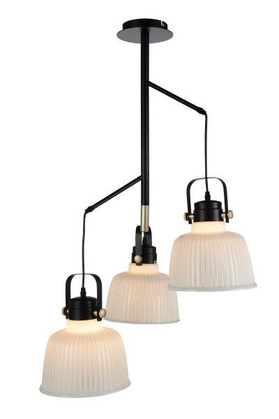 Люстра подвесная St luce SL714.443.03Поворотные<br>Если Вы настроены купить светильник модели SL71444303, то обратите внимание: Люстры коллекции Aletante выглядят современно, прекрасно выполняют свои осветительные функции и помогают создать неповторимый образ интерьера. Классический дизайн сочетается с функциональностью конструкции. Благодаря возможности вращать плафоны, можно осветить определенную зону комнаты, создав световые акценты на особенностях интерьера. Глянцевое стекло оригинально дополняется металлическими элементами черного и золотого цвета. Эти люстры станут яркой деталью в современных интерьерах - от модерна до урбан.<br><br>Установка на натяжной потолок: Да<br>S освещ. до, м2: 9<br>Крепление: Планка<br>Тип лампы: накаливания / энергосбережения / LED-светодиодная<br>Тип цоколя: E27<br>Количество ламп: 3<br>Ширина, мм: 500<br>MAX мощность ламп, Вт: 60<br>Диаметр, мм мм: 230<br>Высота, мм: 950<br>Поверхность арматуры: матовая<br>Цвет арматуры: Черный