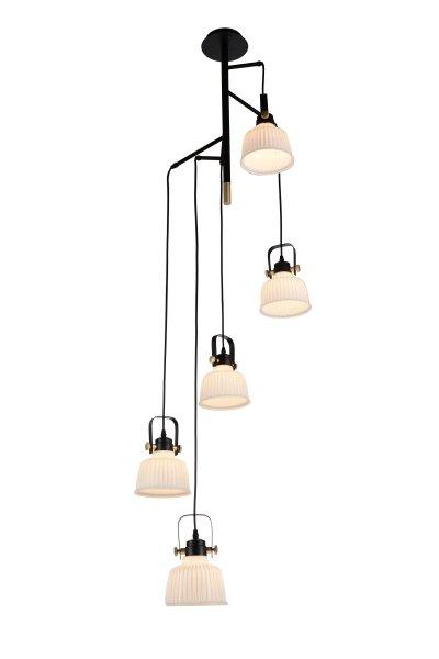 Люстра подвесная St luce SL714.443.05Поворотные<br>Если Вы настроены купить светильник модели SL71444305, то обратите внимание: Люстры коллекции Aletante выглядят современно, прекрасно выполняют свои осветительные функции и помогают создать неповторимый образ интерьера. Классический дизайн сочетается с функциональностью конструкции. Благодаря возможности вращать плафоны, можно осветить определенную зону комнаты, создав световые акценты на особенностях интерьера. Глянцевое стекло оригинально дополняется металлическими элементами черного и золотого цвета. Эти люстры станут яркой деталью в современных интерьерах - от модерна до урбан.<br><br>Установка на натяжной потолок: Да<br>S освещ. до, м2: 10<br>Крепление: Планка<br>Тип лампы: накаливания / энергосбережения / LED-светодиодная<br>Тип цоколя: E14<br>Количество ламп: 5<br>MAX мощность ламп, Вт: 40<br>Диаметр, мм мм: 650<br>Высота, мм: 1750<br>Поверхность арматуры: матовая<br>Цвет арматуры: Черный