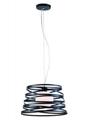 Светильник подвесной St luce SL738.403.01Одиночные<br>Касаемо коллекции модели St luce SL738.403.01 хотелось бы отметить основные моменты: Оригинальные дизайнерские светильники коллекции Ripido представлены в трех цветах и трех размерах плафона. Это яркий акцент в вашем интерьере. Плафон выполнен из металлического серпантина и стеклянного шара, внутри которого находится источник света. Белое матовое стекло мягко рассеивает свет.<br><br>S освещ. до, м2: 5<br>Крепление: планка<br>Тип лампы: накаливания / энергосбережения / LED-светодиодная<br>Тип цоколя: E27<br>Количество ламп: 1<br>Ширина, мм: 450<br>MAX мощность ламп, Вт: 100<br>Диаметр, мм мм: 450<br>Длина, мм: 450<br>Высота, мм: 270<br>Поверхность арматуры: матовая<br>Оттенок (цвет): черный<br>Цвет арматуры: черный