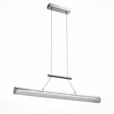 Светильник подвесной St luce SL747.103.01Длинные 4+<br>Если Вы настроены купить светильник модели SL74710301, то обратите внимание: Потолочные светильники из коллекции Retta- выразительный элемент интерьера в стиле хай-тек. Отсутствие лишних деталей в дизайне люстры позволяет использовать их даже в маленьких комнатах. Светодиодный подвесной светильник равномерно распределит свет над рабочей поверхностью кухонного или рабочего стола, при этом гармонично впишется в общую стилистику помещения. Четкие линии модели и сочетание металла и акрила выглядят стильно и современно. Модная лампа, к тому же, является практичным решением, которое поможет экономить электроэнергию.<br><br>S освещ. до, м2: 16<br>Крепление: на планку<br>Цветовая t, К: CW - холодный белый 4000 К<br>Тип лампы: LED - светодиодная<br>Тип цоколя: LED<br>Количество ламп: 1<br>Ширина, мм: 60<br>MAX мощность ламп, Вт: 40<br>Длина цепи/провода, мм: 1200<br>Длина, мм: 900<br>Поверхность арматуры: глянцевая<br>Оттенок (цвет): белый<br>Цвет арматуры: серебристый хром