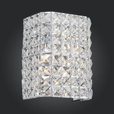 Светильник St luce SL751.101.02Хрустальные<br>Если Вы настроены купить светильник модели SL75110102, то обратите внимание: Необычные светильники коллекции Grande поражают воображение своим ослепительным блеском. Основание сделано из металла в цвет хрома и декорировано замысловатой комбинацией из высококачественного хрусталя. Яркое сияние хрустальных кристаллов создает загадочную игру света. Блестящая люстра для любителей роскоши и ценителей гламура.<br><br>Тип лампы: Накаливания / энергосбережения / светодиодная<br>Тип цоколя: E14<br>Цвет арматуры: серебристый<br>Количество ламп: 2<br>Ширина, мм: 150<br>Расстояние от стены, мм: 120<br>Высота, мм: 200<br>MAX мощность ламп, Вт: 40