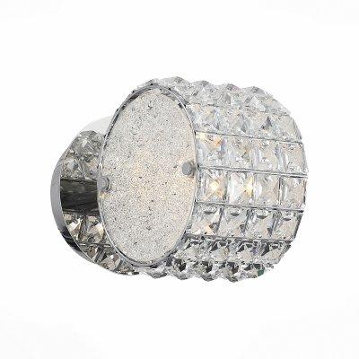 Светильник St Luce SL752.101.01Хрустальные<br><br><br>Тип товара: Светильник настенный бра<br>Тип лампы: Накаливания / энергосбережения / светодиодная<br>Тип цоколя: E14<br>Ширина, мм: 160<br>MAX мощность ламп, Вт: 40<br>Длина, мм: 100<br>Высота, мм: 160