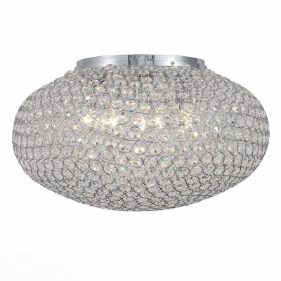 Светильник St Luce SL753.102.08Потолочные<br>Если Вы настроены купить светильник модели SL75310208, то обратите внимание: Фантастическая люстра коллекции Calata даже самый скучный интерьер сделает смелым и восхитительным. Такой светильник наполнит комнату ярким светом, а элементы из хрусталя и хромированного металла создадут ощущения праздника и торжества. Плавные формы плафона помогут сгладить острые углы в дизайне помещения, придав ему легкость и воздушность. Люстра из данной коллекции станет интересным решением для оформления жилых помещений, а также общественных заведений. Ее элегантный свет поможет создать атмосферу торжества и романтики.<br><br>Установка на натяжной потолок: Да<br>S освещ. до, м2: 16<br>Тип лампы: Накаливания / энергосбережения / светодиодная<br>Тип цоколя: E14<br>Количество ламп: 8<br>MAX мощность ламп, Вт: 40<br>Диаметр, мм мм: 500<br>Высота, мм: 300