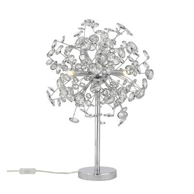 Настольная лампа St luce SL782.104.03Хай тек<br><br><br>Тип лампы: галогенная/LED<br>Тип цоколя: G9<br>Количество ламп: 3<br>MAX мощность ламп, Вт: 28<br>Диаметр, мм мм: 400<br>Высота, мм: 580<br>Цвет арматуры: серебристый