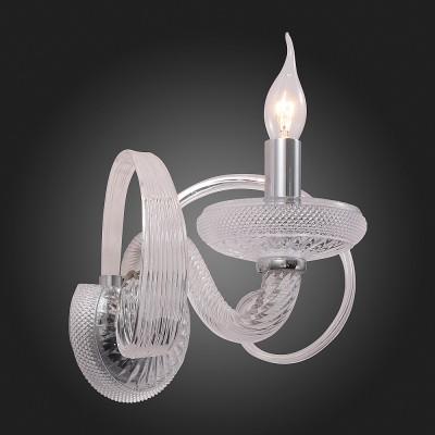 Светильник настенный бра St luce SL786.101.01Хрустальные<br><br><br>Тип товара: Светильник настенный бра<br>Тип лампы: Накаливания / энергосбережения / светодиодная<br>Тип цоколя: E14<br>Количество ламп: 1<br>Ширина, мм: 150<br>MAX мощность ламп, Вт: 40<br>Расстояние от стены, мм: 250<br>Высота, мм: 350