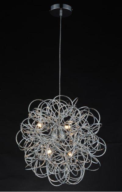 Люстра подвесная St luce SL787.103.06Подвесные<br><br><br>Установка на натяжной потолок: Да<br>Крепление: Планка<br>Тип товара: Люстра подвесная<br>Тип лампы: галогенная / LED-светодиодная<br>Тип цоколя: G9<br>Количество ламп: 6<br>MAX мощность ламп, Вт: 28<br>Диаметр, мм мм: 500<br>Высота, мм: 450<br>Поверхность арматуры: глянцевая<br>Цвет арматуры: серебристый