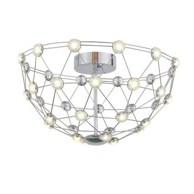 Люстра потолочная St luce SL796.102.36 UFOлюстры хай тек потолочные<br>Необычные светильники коллекции Ufo-это смелый дизайнерский шаг, в котором переплетаются оригинальные идеи и функциональность. Хромированная конструкция и светодиоды закрытые прозрачным акрилловым рассеивателем, способны придать любому помещению неповторимость и оригинальность.<br><br>Крепление: планка<br>Тип лампы: LED - светодиодная<br>Тип цоколя: LED, встроенные светодиоды<br>Цвет арматуры: серебристый<br>Количество ламп: 36<br>Диаметр, мм мм: 530<br>Высота, мм: 300<br>Поверхность арматуры: блестящая<br>Оттенок (цвет): серебристный<br>MAX мощность ламп, Вт: 0.45<br>Общая мощность, Вт: 16.2