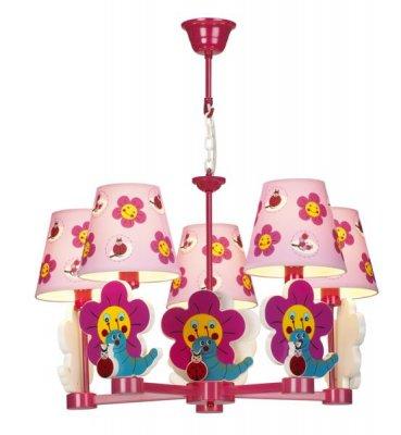 Люстра подвесная St luce SL801.603.05Подвесные<br><br><br>Установка на натяжной потолок: Да<br>S освещ. до, м2: 13<br>Крепление: Крюк<br>Тип товара: Люстра подвесная<br>Тип лампы: накаливания / энергосбережения / LED-светодиодная<br>Тип цоколя: E14<br>Количество ламп: 5<br>Ширина, мм: 500<br>MAX мощность ламп, Вт: 40<br>Длина, мм: 500<br>Высота, мм: 800<br>Оттенок (цвет): разноцветный<br>Цвет арматуры: розовый