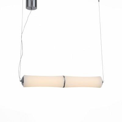 Светильник подвесной St luce SL807.503.02Одиночные<br>Необычные светильники коллекции Bambu  -это прекрасный образец стремительно развивающегося стиля биотек в оформлении интерьеров. Природные формы плафонов из белого матового акрила и металлические основания цвета хром воплотились в урбанистическом образе светильников Bambu . Источник света-LED. Модели Bambu станут оригинальным акцентом помещений , оформленных в разнообразных современных стилях.<br><br>Цветовая t, К: 3000<br>Тип лампы: LED<br>Тип цоколя: LED<br>Цвет арматуры: серебристый<br>Количество ламп: 2<br>Ширина, мм: 125<br>Длина, мм: 840<br>Высота, мм: 1200<br>MAX мощность ламп, Вт: 24