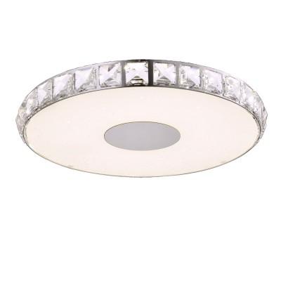 Светильник SL821.112.01 St luceлюстры хай тек потолочные<br><br><br>Цветовая t, К: 4000<br>Тип лампы: LED - светодиодная<br>Тип цоколя: LED, встроенные светодиоды<br>Цвет арматуры: серебристый<br>Количество ламп: 1<br>Диаметр, мм мм: 360<br>Высота, мм: 42<br>Поверхность арматуры: глянцевая<br>Оттенок (цвет): серебристый<br>MAX мощность ламп, Вт: 18