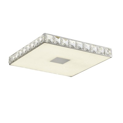 Светильник SL822.122.01 St luceквадратные светильники<br><br><br>Цветовая t, К: 4000<br>Тип лампы: LED - светодиодная<br>Тип цоколя: LED, встроенные светодиоды<br>Цвет арматуры: серебристый<br>Количество ламп: 1<br>Ширина, мм: 442<br>Длина, мм: 442<br>Высота, мм: 42<br>Поверхность арматуры: глянцевая<br>Оттенок (цвет): серебристый<br>MAX мощность ламп, Вт: 24