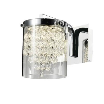 Светильник SL823.101.01 St luceхрустальные бра<br><br><br>Цветовая t, К: 4000<br>Тип лампы: LED - светодиодная<br>Тип цоколя: LED, встроенные светодиоды<br>Цвет арматуры: серебристый<br>Количество ламп: 1<br>Ширина, мм: 140<br>Расстояние от стены, мм: 230<br>Высота, мм: 180<br>Поверхность арматуры: глянцевая<br>Оттенок (цвет): серебристый<br>MAX мощность ламп, Вт: 6