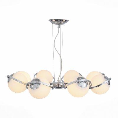 Светильник St Luce SL848.103.08Подвесные<br><br><br>Тип товара: люстра подвесная<br>Тип лампы: 850<br>Тип цоколя: E27<br>Количество ламп: 8<br>MAX мощность ламп, Вт: 60<br>Диаметр, мм мм: 1000