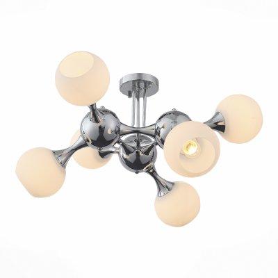 Светильник St Luce SL849.102.06Потолочные<br>Если Вы настроены купить светильник модели SL84910206, то обратите внимание: Как атомы, соединяясь между собой, создают молекулы, так собираются воедино плафоны-шары светильников из коллекции Edificio. Уникальные крепления-шарниры соединяют стыки металлического каркаса, добавляя облику светильника брутальность и футуристичность. Направленность абажуров во все стороны позволяет полноценно и равномерно осветить все пространство мягким и сдержанным потоком света. Люстры коллекции Edificio могут использоваться в городских квартирах, но особенно эффектно они выглядят на высоких потолках частных домов.<br><br>Установка на натяжной потолок: Да<br>S освещ. до, м2: 18<br>Тип лампы: Накаливания / энергосбережения / светодиодная<br>Тип цоколя: E27<br>Количество ламп: 6<br>MAX мощность ламп, Вт: 60<br>Диаметр, мм мм: 700<br>Высота, мм: 380