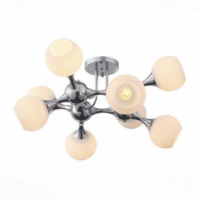 Светильник St Luce SL849.102.08Потолочные<br><br><br>Тип товара: люстра потолочная<br>Тип лампы: Накаливания / энергосбережения / светодиодная<br>Тип цоколя: E27<br>Количество ламп: 8<br>MAX мощность ламп, Вт: 60<br>Диаметр, мм мм: 750<br>Высота, мм: 380
