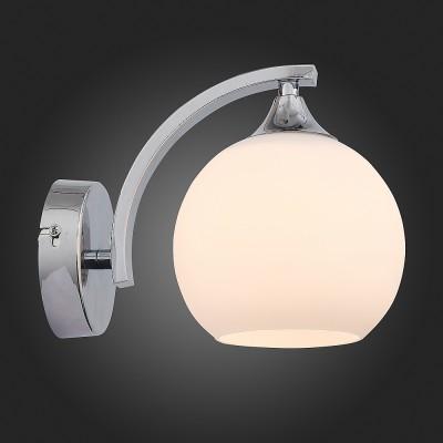 St Luce SL849.101.01 СветильникСовременные<br><br><br>Тип лампы: Накаливания / энергосбережения / светодиодная<br>Тип цоколя: E27<br>Количество ламп: 1<br>Ширина, мм: 180<br>MAX мощность ламп, Вт: 60<br>Длина, мм: 110<br>Высота, мм: 145