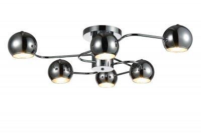 Люстра потолочная St luce SL854.102.06Потолочные<br>Если Вы настроены купить светильник модели SL85410206, то обратите внимание: Коллекция Glio поражает необычным запоминающимся дизайном. Светильники идеально вписываются в современный интерьер , оформленный в стиле минимализм, техно или хай- тек. <br>Полузакрытые шарообразные абажуры создают мягкое направленное освещение.Возникает ощущение комфорта и уюта как только включаются лампочки и глянцевые поверхности хромированных или черных плафонов начинают активно отражать свет, создавая игривые блики, разлетающиеся по всем поверхностям комнаты.<br><br>Установка на натяжной потолок: Да<br>S освещ. до, м2: 12<br>Крепление: Планка<br>Тип лампы: накаливания / энергосбережения / LED-светодиодная<br>Тип цоколя: E14<br>Цвет арматуры: серебристый<br>Количество ламп: 6<br>Ширина, мм: 760<br>Длина, мм: 690<br>Высота, мм: 200<br>Поверхность арматуры: глянцевая<br>MAX мощность ламп, Вт: 40